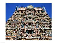 Carving on Sri Meenakshi Hindu Temple, Chennai, India Fine-Art Print