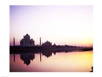 Silhouette of the Taj Mahal, Agra, Uttar Pradesh, India Fine-Art Print