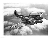 US Army fighter plane in flight Fine-Art Print