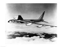 Side profile of a bomber plane in flight, B-52 Stratofortress, US Air Force Fine-Art Print