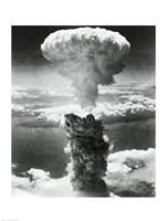 Mushroom cloud formed by atomic bomb explosion, Nagasaki, Japan, August 9, 1945 Fine-Art Print