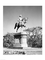 Low angle view of a statue of George Washington, Boston Public Garden, Boston, Massachusetts, USA Fine-Art Print
