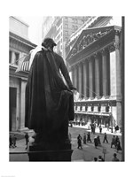 George Washington Statue, New York Stock Exchange, Wall Street, Manhattan, New York City, USA Fine-Art Print