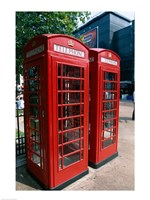 Two telephone booths, London, England Fine-Art Print