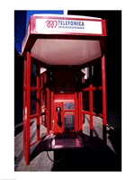 Close-up of a telephone booth, Santiago, Chile Fine-Art Print