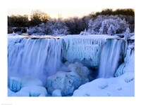 Waterfall frozen in winter, American Falls, Niagara Falls, New York, USA Fine-Art Print