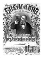 F. Heim and Bros Lager Fine-Art Print