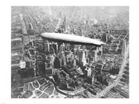 USS Los Angeles Airship Over Manhattan Fine-Art Print