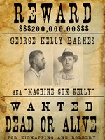 Machine Gun Kelly Wanted Poster Fine-Art Print