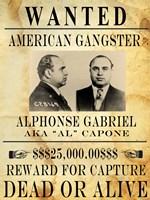 Al Capone Wanted Poster Fine-Art Print