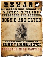 Bonnie and Clyde Wanted Poster Fine-Art Print