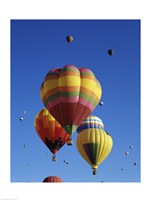 Hot air balloons at the Albuquerque International Balloon Fiesta, Albuquerque, New Mexico, USA Launch Fine-Art Print