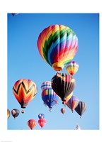 Cluster of Hot Air Balloons Fine-Art Print