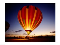 Low angle view of a hot air balloon taking off, Albuquerque, New Mexico, USA Fine-Art Print