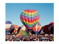 Hot air balloons at Albuquerque Balloon Fiesta, Albuquerque, New Mexico, USA Fine-Art Print