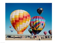 Hot air balloons taking off, Balloon Fiesta, Albuquerque, New Mexico Fine-Art Print