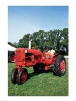 Tractor in a field Fine-Art Print