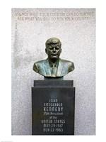 JFK Bust by Evangelos Frudakis at Kennedy Plaza, Boardwalk, Atlantic City, New Jersey, USA Fine-Art Print