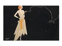 Woman Smoking Fine-Art Print