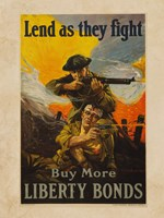 Lend as They Fight Buy More Liberty Bonds Fine-Art Print