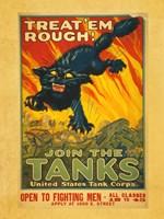 Treat Em Rough Join the Tanks Fine-Art Print