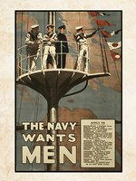 The Navy Wants Men Fine-Art Print