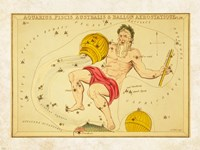 Aquarius, Pices Australis & Ballon Aerostatique Constellation Fine-Art Print