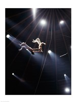 The Flying Redpaths Royal Hanneford Circus act Fine-Art Print