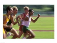 Male athletes running Fine-Art Print
