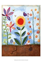 Whimsical Flower Garden II Fine-Art Print