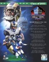 Marshall Faulk 2011 Hall of Fame Composite Fine-Art Print