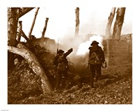 Two American Soldiers Storming a Bunker Fine-Art Print