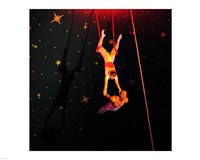 Continental Circus Double Trapeze Act Fine-Art Print
