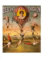 Descente d'Absalon par Miss Stena, Circus Poster, 1890 Fine-Art Print