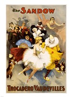 The Sandow Trocadero Vaudevilles, Performing Arts Poster, 1894 Fine-Art Print