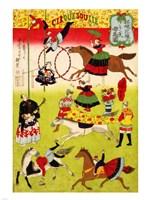 Hiroshige III, Big French Circus on the Grounds of Shokonsha Shrine, 1871 Fine-Art Print