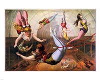 Trapeze Artists in Circus Fine-Art Print