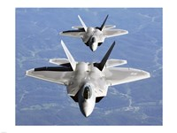 Two F-22A Raptor in Column Flight Fine-Art Print