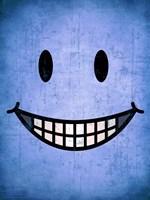 Hang up a Smile (blue) Fine-Art Print