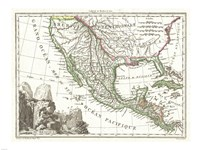 1810 Tardieu Map of Mexico, Texas and California Fine-Art Print