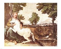 Virgin and Unicorn Fine-Art Print
