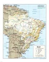 Brazil Map Fine-Art Print