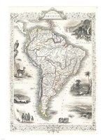 1850 Tallis Map of South America Fine-Art Print