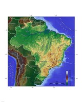 Brasilien Map Fine-Art Print
