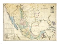 Map of Mexico 1847 Fine-Art Print