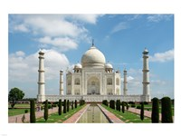 Taj Mahal, Agra, India With Green Trees Fine-Art Print