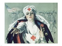 Red Cross Nurse Fine-Art Print