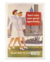 Waves Recruiting Poster Fine-Art Print
