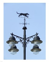 Street Light Detail with Weathervane Fine-Art Print