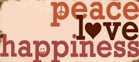 Peace Love Happiness - red Fine-Art Print